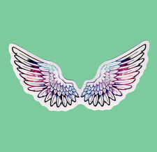 Rainbow Wings Clear Transparent Sticker Bomb Vinyl Decal Angel Wing Feather Cute