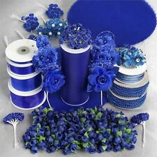 Royal Blue LARGE Lot of Assorted CRAFT Decorations Wedding Party Wholesale SALE