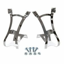 CYCLING TOE CLIPS MEDIUM / LARGE SILVER - ROAD TOURING BIKE BICYCLE CYCLE