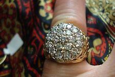 2 CARAT UNISEX DIAMOND KENTUCKY CLUSTER  SZ 7 #KYC2