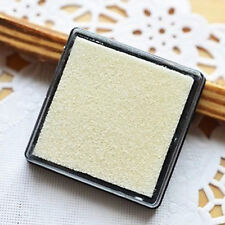 White Cute Little Inkpad Stamp Pad Ink Stamp Couples 4x4cm Square Candy Colors