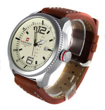 SUPERBA WIRQUIN 48mm MILITARE ARMY NAVY PILOT AVIATOR SPORT BARCA data quarzo acciaio watch