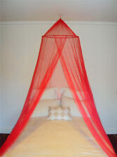 Red Decorative Mosquito Fly Canopy Net Bed Netting For Single Double King Size