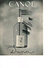 PUBLICITE ADVERTISING  1965   DANA      eau de Cologne CANOE
