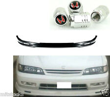 94 95 HONDA ACCORD MUG STYLE PU BLACK ADD-ON FRONT BUMPER LIP SPOILER CHIN + CAP