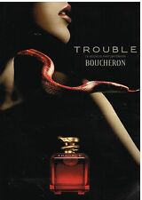 Publicité Advertising 2004 Parfum Trouble par Boucheron