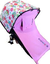 Pink Sun shade+cover - Bugaboo, Pram Curtain, rocker UPF50+ universal fit