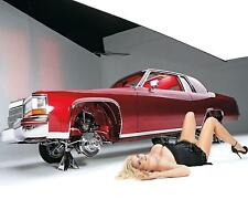 Hotrod Lowrider Custom Cadillac Sexy Hot Blond Pinup 8 x 10