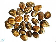 TIGERS EYE RUNE STONES GEMSTONE CRYSTALS WICCA PAGAN NEW AGE READINGS