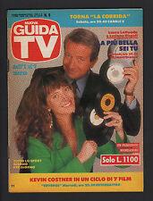GUIDA TV MONDADORI 9/1992 LAURA LATTUADA E LUCIANO RISPOLI PROGRAMMI TV LOCALI