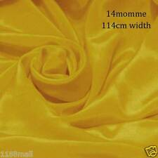 """3 Yards #12 (lemon curry yellow) 45"""" wide 14momme Pure Silk Crepe De Chine"""