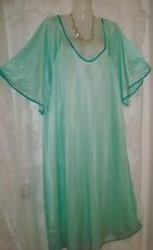 SEXY,GREEN W/GREEN TRIM WOMEN PLUS SIZE FULL-SWEEP NIGHTGOWN,SCOOP NECK-5X-#8
