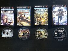 LOT 4 JEUX PLAYSTATION 2 : PS2 CALL OF DUTY 1 2 3 + World at War - Final Fronts