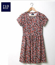 NWT Gap Women's Multicolor Floral Shirt Dress Size 12