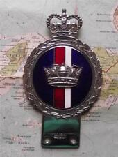c1950 Vintage Car Enamel Chrome  Mascot Badge : Royal Navy  by Gaunt