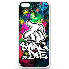 Coque housse étui tpu gel motif swag or die Iphone 5C