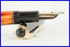 PELIKAN 400NN brown striped fountain pen with M gold nib and of brightest color