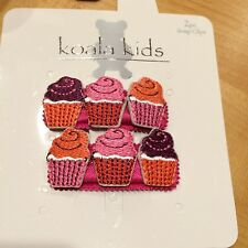 NEW Koala Kids Girl Hair Assessory 2 Cupcake Snap Clip Barrette