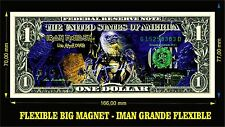 IRON MAIDEN LIVE AFTER DEATH IMAN BILLETE 1 DOLLAR BILL MAGNET