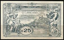 Billet 0,25 Franc, Union des Commerçants de Béziers. Vers 1920. Neuf/UNC