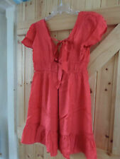 Pretty Little Red Dress By ASOS . com  Size 14 Made With Viscose Chest 38""