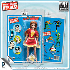 Official DC Comics Mary Marvel 8 inch Action Figure on Mego Style Retro Card
