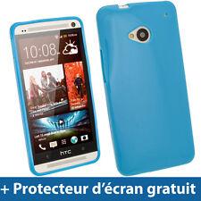 Bleu Étui Coque Housse Case Cover Gel TPU pour HTC One M7 Android Smartphone 1