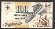 FAEROE  ISLANDS  100  KRONUR  2011   P 30 Uncirculated  Prefix C Low s/n