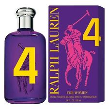POLO BIG PONY 4 BY RALPH LAUREN FOR WOMEN EDT 3.4 oz/100 ml, New In Box