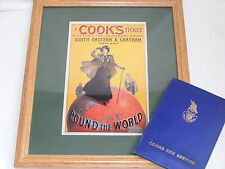 Cook's Travel – Framed  illustration with a Travel Service wallet – Ref 951