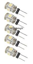 LOT of 5, WARM WHITE Bulb G4 BiPin 2W 360Deg LEDs for Malibu 12V AC Landscape