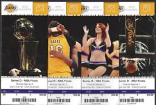 2012 NBA LAKERS NBA FINALS PLAYOFFS FULL UNUSED TICKETS - ALL 4 HOMES GAMES