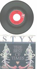 STYX~ THE BEST OF TIMES/ LIGHTS~ A&M Label 2300S  45  PICTURE SLEEVE EX
