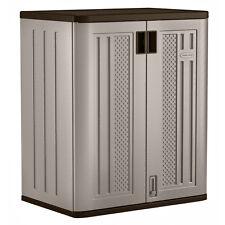 Suncast Base Resin Wicker Storage Cabinet