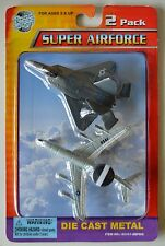 NEW 2 PK Road Tough Super AIRFORCE AIRPLANE Metal Collect USAF AWACS F 22 Raptor