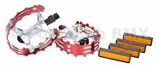 "Old school BMX XC-II Wellgo bear trap pedals 9/16"" (FOR 3 PIECE CRANKS) RED"