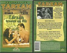 RARE / K7 VIDEO - TARZAN TROUVE UN FILS avec JOHNNY WEISSMULLER