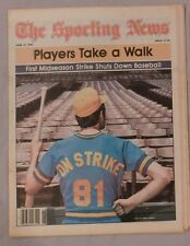 Baseball On Strike 1981 Sporting News No Label Newsstand