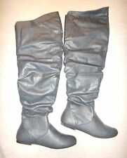 CA Carrini Tall Over the Knee Scrunch Gray Women's Boots EUC Size 10