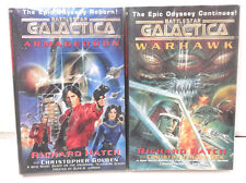 Battlestar Galactica Hardcover Book Set of 2 by Richard Hatch- UNREAD (M5847)