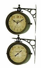 "Infinity Indoor/Outdoor 8"" The Charleston Double Sided Clock & Thermometer - 124"