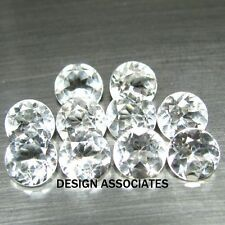 1.5 MM ROUND CUT WHITE ZIRCON ALL NATURAL AAA 10 PC SET