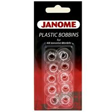 Janome Genuine 10 Pk. Plastic Bobbins #200122647 For All Janome Models