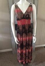 Hippie Free Size Sexy Brown Bohemian Beach Summer Sun Dress Fits Size 6 - 12