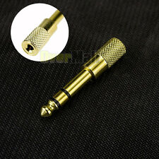 "6.5mm 1/4""Male plug to 3.5mm 1/8""Female Jack Stereo Headphone Audio Adapter Gold"