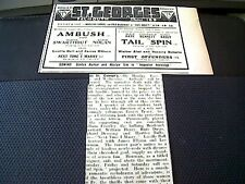 64-3 1939 falmouth cinema advert aug alice faye tail spin st george's