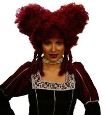 Ladies Baroque Black/White/Red Wig Medieval Queen Of Hearts French Fancy Dress