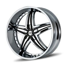 20 inch 20x9.5 Gianna Blitz Chrome wheel rim 5x4.25 5x108 +20
