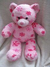 BUILD A BEAR - Pink Snowflake design bear soft toy plush VGC
