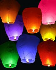 8x color Sky Chinese lanterns